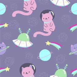 Papel de Parede Cat Space