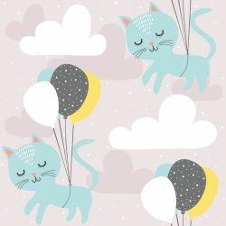 Papel de Parede Cats Ballon