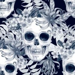 Papel de Parede Caveira Floral