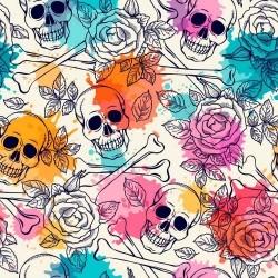 Papel de Parede Caveira Color