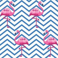 Papel de Parede Chevron Flamingo