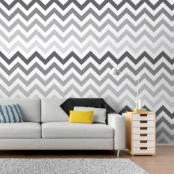 Papel de Parede Chevron Gray Degrade