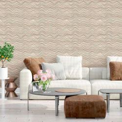 Papel de Parede Chevron Light Cream
