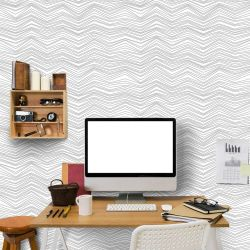Papel de Parede Chevron Light Gray