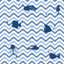 Papel de Parede Chevron Oceano