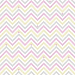 Papel de Parede Chevron Star Girl Clean