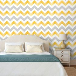 Papel de Parede Chevron Virginia Gray