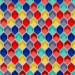 Papel de Parede Colmeia 3D Color