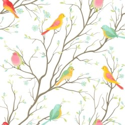 Papel de Parede Colored birds