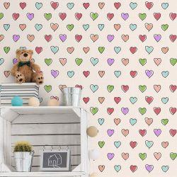 Papel de Parede Colorful hearts
