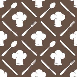 Papel de Parede Cooking Brown Clean