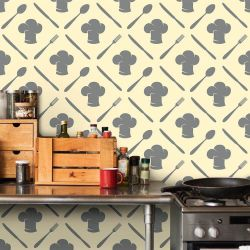 Papel de Parede Cooking Gray