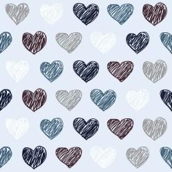 Papel de Parede Corações Basic