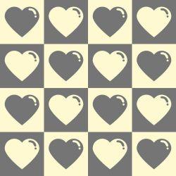 Papel de Parede Corações Cute Dark