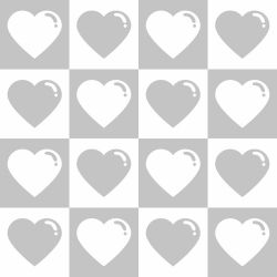 Papel de Parede Corações Cute Gray