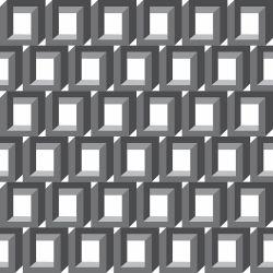 Papel de Parede Cubo Ilusionista Gray