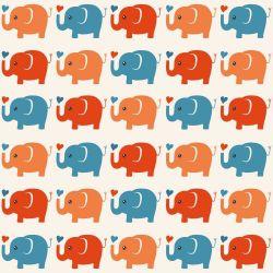 Papel de Parede Elefante Colorido