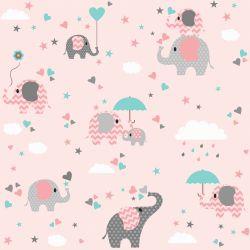 Papel de Parede Elefante Girl