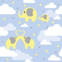 Papel de Parede Elefantes nas Nuvens Boy