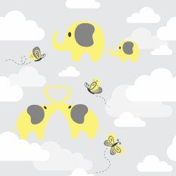 Papel de Parede Elefantes nas Nuvens Clean