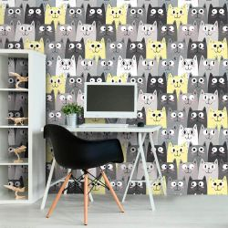 Papel de Parede Faces Cats