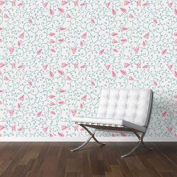 Papel de Parede Floral Rana Pink