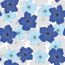 Papel de Parede Flores Daisy Blue