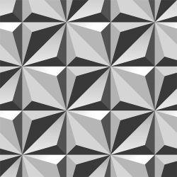 Papel de Parede Flowers 3D Gray