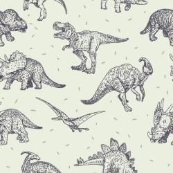 Papel de Parede Dinossauro Lines