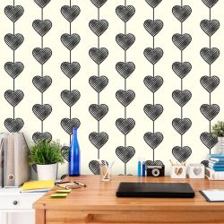 Papel de Parede Heart Curtain Black