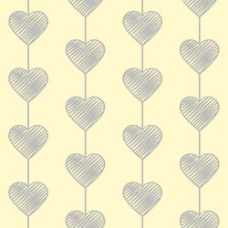 Papel de Parede Heart Curtain Clean