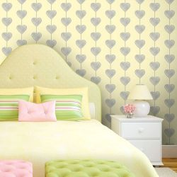 Papel de Parede Heart Curtain Clean