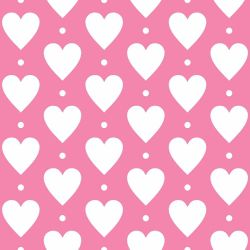 Papel de Parede Heart Point Pink