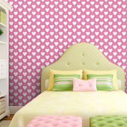 Papel de Parede Heart Point Pink