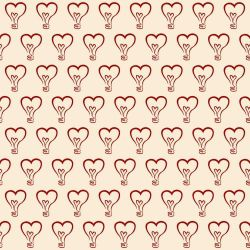 Papel de Parede Lampadas Heart