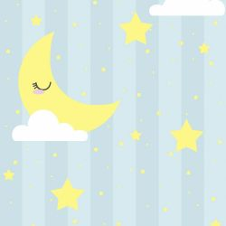 Papel de Parede Lua Dormindo