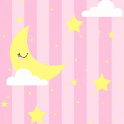 Papel de Parede Lua Dormindo Girl