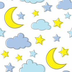 Papel de Parede Lua e Estrelas