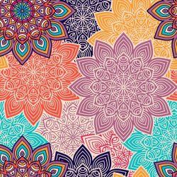 Papel de Parede Mandala Flowers