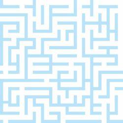 Papel de Parede Maze Blue