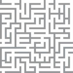 Papel de Parede Maze Gray