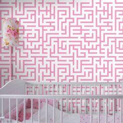 Papel de Parede Maze Pink