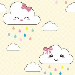 Papel de Parede Nuvem Cute