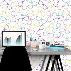 Papel de Parede Óculos Geek Color