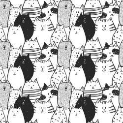 Papel de Parede P&B Cats