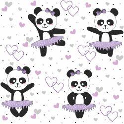 Papel de Parede Panda Ballet Fofo