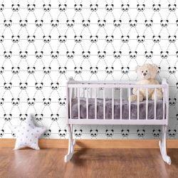 Papel de Parede Panda Grid