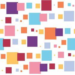 Papel de Parede Quadrados Coloridos