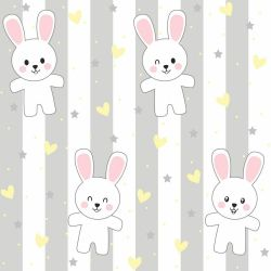 Papel de Parede Rabbit Gray