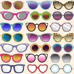 Papel de Parede Retro Glasses